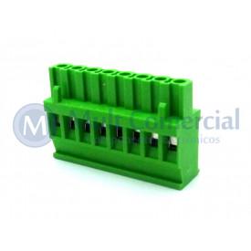 Conector Verde Multipolar AKZ1100-08 Macho de 8 vias - Passo 5.08mm - Phoenix Mecano
