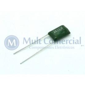 Capacitor Poliéster Verde 39KPF/100V ( 0.039uF / 39NF / 393 )