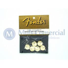 Knob com Parafuso Original Fender Creme  FNDVW/05A200 - Embalagem com 6 Knobs