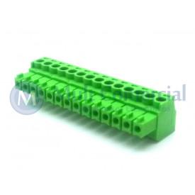 Conector Verde Multipolar AK1550-14 Fêmea de 14 vias - Passo 3.5mm - Phoenix Mecano