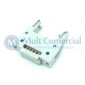 Conector Header com ejetor para Flat Cable IDC 10 Vias DS1012-10LNN2A8
