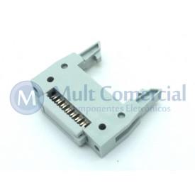 Conector Header com ejetor para Flat Cable IDC 14 Vias DS1012-14LNN2A8