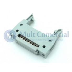 Conector Header com ejetor para Flat Cable IDC 16 Vias DS1012-16LNN2A8