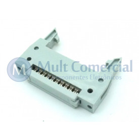 Conector Header com ejetor para Flat Cable IDC 20 Vias DS1012-20LNN2A8