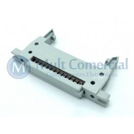 Conector Header com ejetor e fixação para Flat Cable IDC 26 Vias DS1012-26LMN2A8
