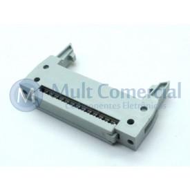Conector Header com ejetor para Flat Cable IDC 26 Vias DS1012-26LNN2A8
