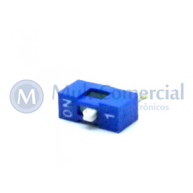 Chave Dip Switch 180° 1 Via DS1040-1BN - Connfly
