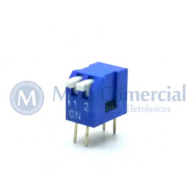 Chave Dip Switch Piano 90° 2 Vias DS1040-2BT - Connfly