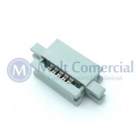 Conector Header com fixação para Flat Cable IDC 10 Vias DS1015-10MN2A