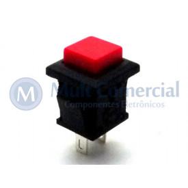 Chave Push Button ON-(OFF) Sem Trava Normalmente Fechado PBS-15C - Vermelho - Jietong
