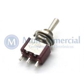 Interruptor de Alavanca Metálica Unipolar Solda Fio 5A 17.105 (LIGA)/DESLIGA/(LIGA) Momentânea - Margirius
