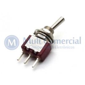 Interruptor de Alavanca Metálica Unipolar (PCI) 5A 17.108 LIGA/(LIGA) Momentânea  - Margirius