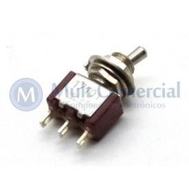Interruptor de Alavanca Curta Metálica Unipolar Solda Fio  5A 17.101 LIGA/LIGA - Margirius