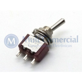 Interruptor de Alavanca Metálica Unipolar Solda Fio 5A 17.103 LIGA/DESLIGA/LIGA - Margirius