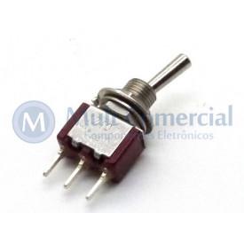 Interruptor de Alavanca Metálica Unipolar (PCI) 5A 17.107 LIGA/DESLIGA/(LIGA) Momentânea - Margirius