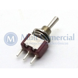 Interruptor de Alavanca Metálica Unipolar (PCI) 5A 17.105 (LIGA)/DESLIGA/(LIGA) Momentânea - Margirius
