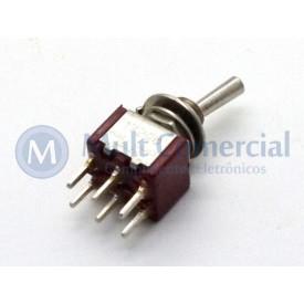 Interruptor de Alavanca Metálica Bipolar (PCI) 5A 17.208 LIGA/(LIGA) Momentânea - Margirius