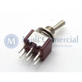 Interruptor de Alavanca Metálica Bipolar (PCI) 5A 17.203 LIGA/DESLIGA/LIGA - Margirius