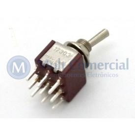 Interruptor de Alavanca Metálica Tripolar (PCI) 5A 17.303 LIGA/DESLIGA/LIGA - Margirius