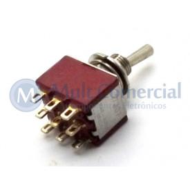 Interruptor de Alavanca Metálica Tripolar Solda Fio 5A 17.307 LIGA/DESLIGA/(LIGA) Momentânea - Margirius