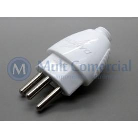 Plug Desmontável 1616 2P+T 250V (Pino Macho)  20A (Pinos com 04,8mm) - Daneva