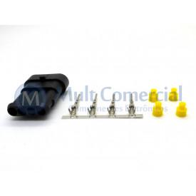 Conector Selado Automotivo 4 Vias Macho - LW-66501S0431