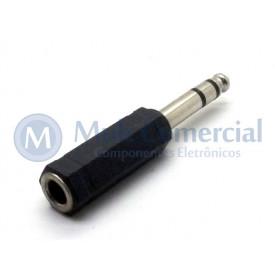 Plug adaptador J10 Estéreo Fêmea para P10 Estéreo Macho - JL26079