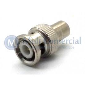 Plug adaptador RCA Fêmea para BNC Macho - JL31148