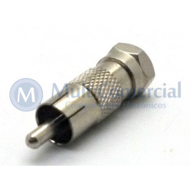Plug adaptador RCA Macho para BNC Macho - JL31046