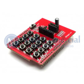 Módulo de Teclado 4x4 com interface para LCD Nokia 5110 - GC-08