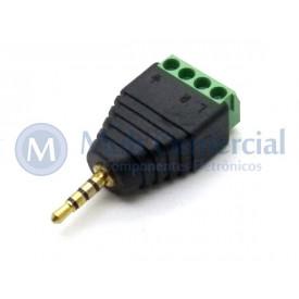 Plug P1 Para Borne de 4 vias Fone e Microfone - JD15-1013