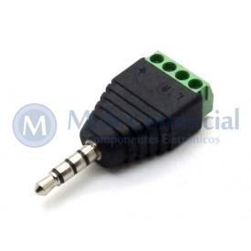Plug P2 Para Borne de 4 vias Fone e Microfone - JD15-1014