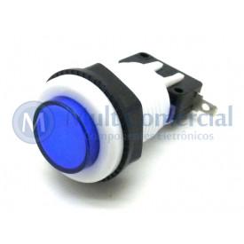 Chave Push-Button PBS-29 Utilizada em Arcades Fliperamas - Azul