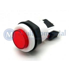 Chave Push-Button PBS-29 Utilizada em Arcades Fliperamas - Vermelho
