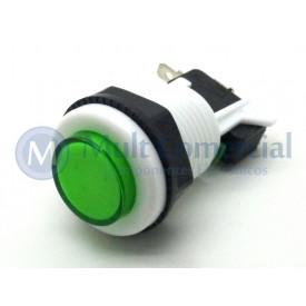 Chave Push-Button PBS-29 Utilizada em Arcades Fliperamas - Verde