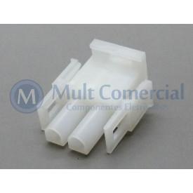 Conector HyLok Macho 02 Vias - LW6350F0202