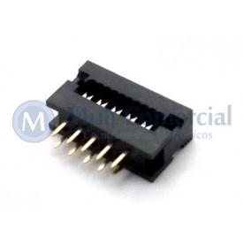 Conector Dip-Plug Estreito 10 Vias Passo de 2.54mm - DS-1018-10SIBX - Connfly