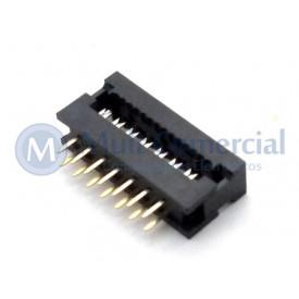 Conector Dip-Plug Estreito 14 Vias Passo de 2.54mm - DS-1018-14SIBX - Connfly
