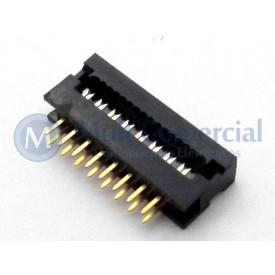 Conector Dip-Plug Estreito 16 Vias Passo de 2.54mm - DS-1018-16SIBX - Connfly