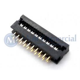 Conector Dip-Plug Estreito 20 Vias Passo de 2.54mm - DS-1018-20SIBX - Connfly