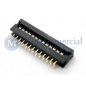Conector Dip-Plug Estreito 26 Vias Passo de 2.54mm - DS-1018-26SIBX - Connfly