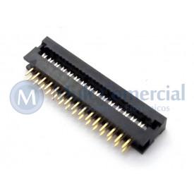 Conector Dip-Plug Estreito 30 Vias Passo de 2.54mm - DS-1018-30SIBX - Connfly