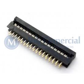 Conector Dip-Plug Estreito 34 Vias Passo de 2.54mm - DS-1018-34SIBX - Connfly