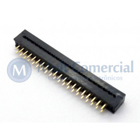 Conector Dip-Plug Estreito 40 Vias Passo de 2.54mm - DS-1018-40SIBX - Connfly