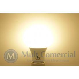 Lâmpada Led A60 8W 3.000K - Luz Amarela 800 Lumens - Bivolt - Equivale a 70W Incadescente