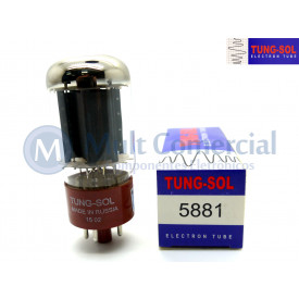 Válvula 5881 Pentodo de Potência Tung-Sol