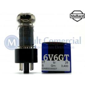 Válvula 6V6GT Pentodo de Potência Mullard
