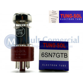 Válvula Duplo Triodo 6SN7GTB Tung-Sol