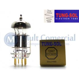 Válvula Duplo Triodo 12AX7 ECC803S Tung-Sol Gold Pin
