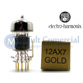 Válvula Duplo Triodo 12AX7EHG ECC83 7025 Electro-Harmonix Gold Pin